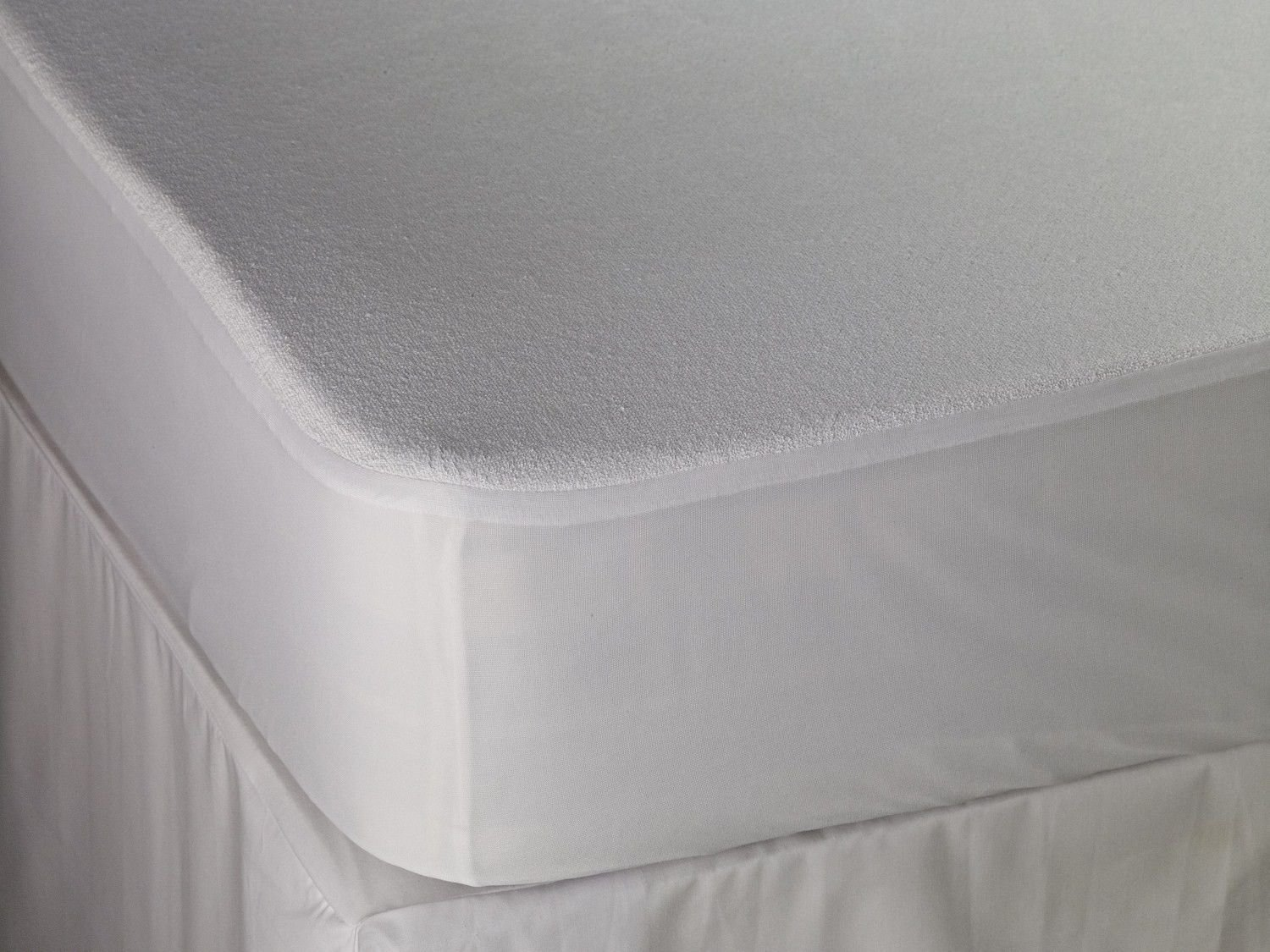 Comfy Nights 30cm Deep Terry Towel Waterproof Fitted NON NOISY Sheet Mattress Protector - King Haani