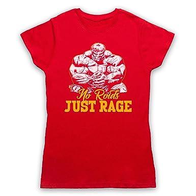 No Roids Just Rage Bodybuilding Culture Slogan Damen T-Shirt: Amazon.de:  Bekleidung