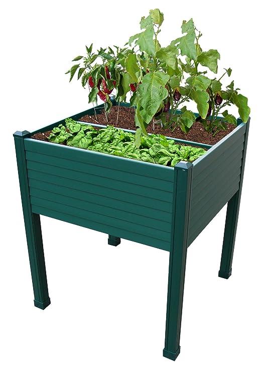 Huerto en P.V.C 60x60x75 cm.color: verde 2: Amazon.es: Hogar