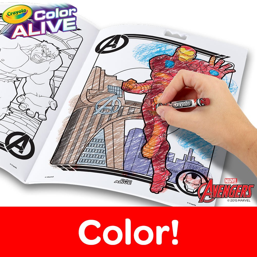amazon com crayola avengers color alive action coloring pages