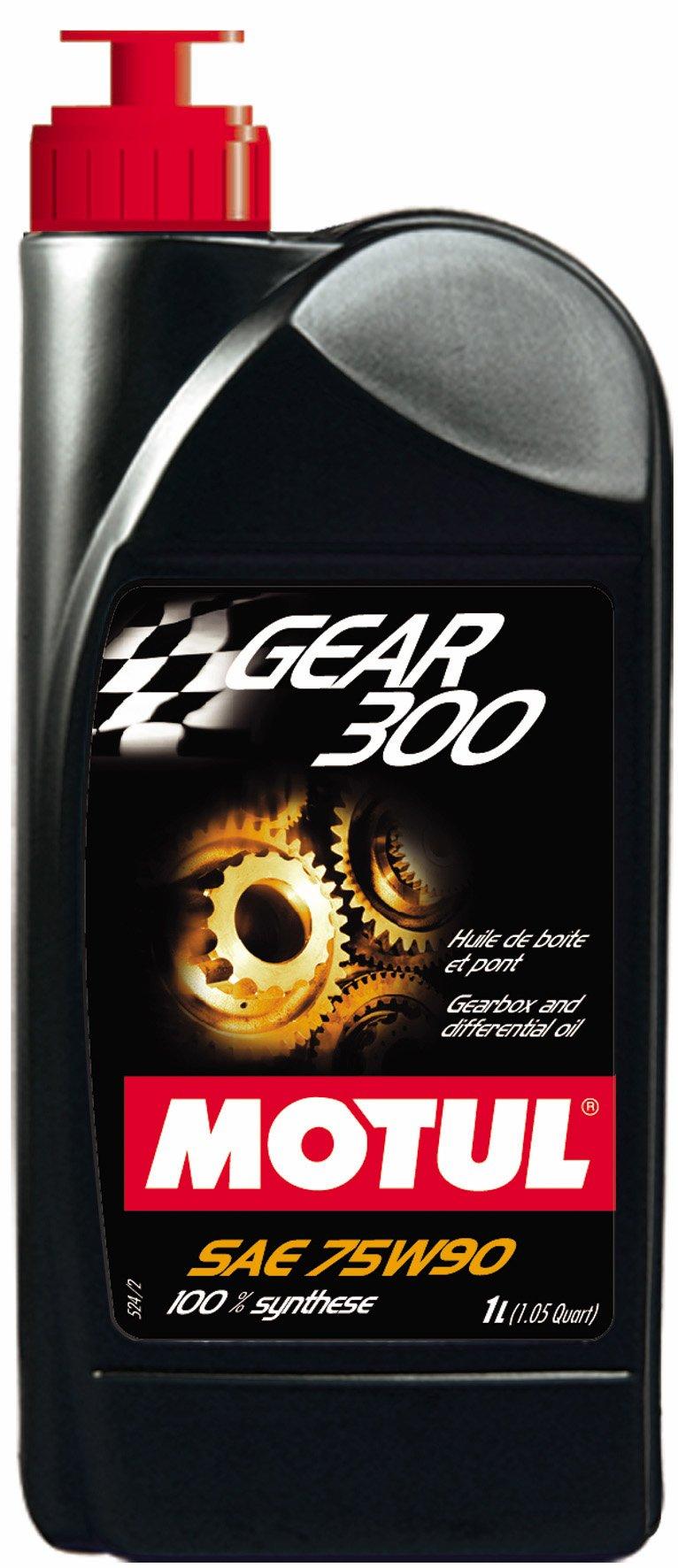 Motul Gear 300 Fully Synthetic Gearbox Oil - 75W90 1L (Pack of 6) by Motul