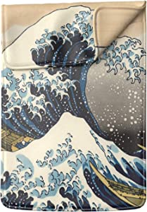 Lex Altern Laptop Sleeve Case for MacBook Air 13 Mac Pro 16 15 Retina HP Dell ASUS Acer Lenovo 11 12 14 17 inch 2020 The Great Wave of Kanagawa Katsushika Hokusai Art Japanese Leather Cover Design