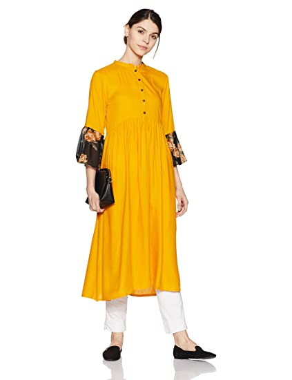 Indi lite Women's Empire Rayon Kurta Kurtas & Kurtis at amazon