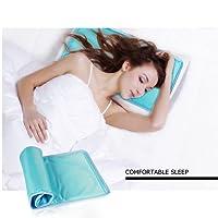 AUGYMER Kühlmatte Kissen Kühldecke Kühlkissen selbstkühlende Decke 30 x 55cm Reduziert Migräne/Hitzewallungen und Fieber/weiches Gel/Kein Wasser oder Auslaufen