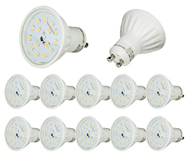 LED COB GU10 Spot Lampe Birne Leuchte Energiesparlampe Kaltweiß 4W 5-er Satz