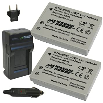 Amazon wasabi power battery 2 pack and charger for canon wasabi power battery 2 pack and charger for canon nb 5l and sciox Images