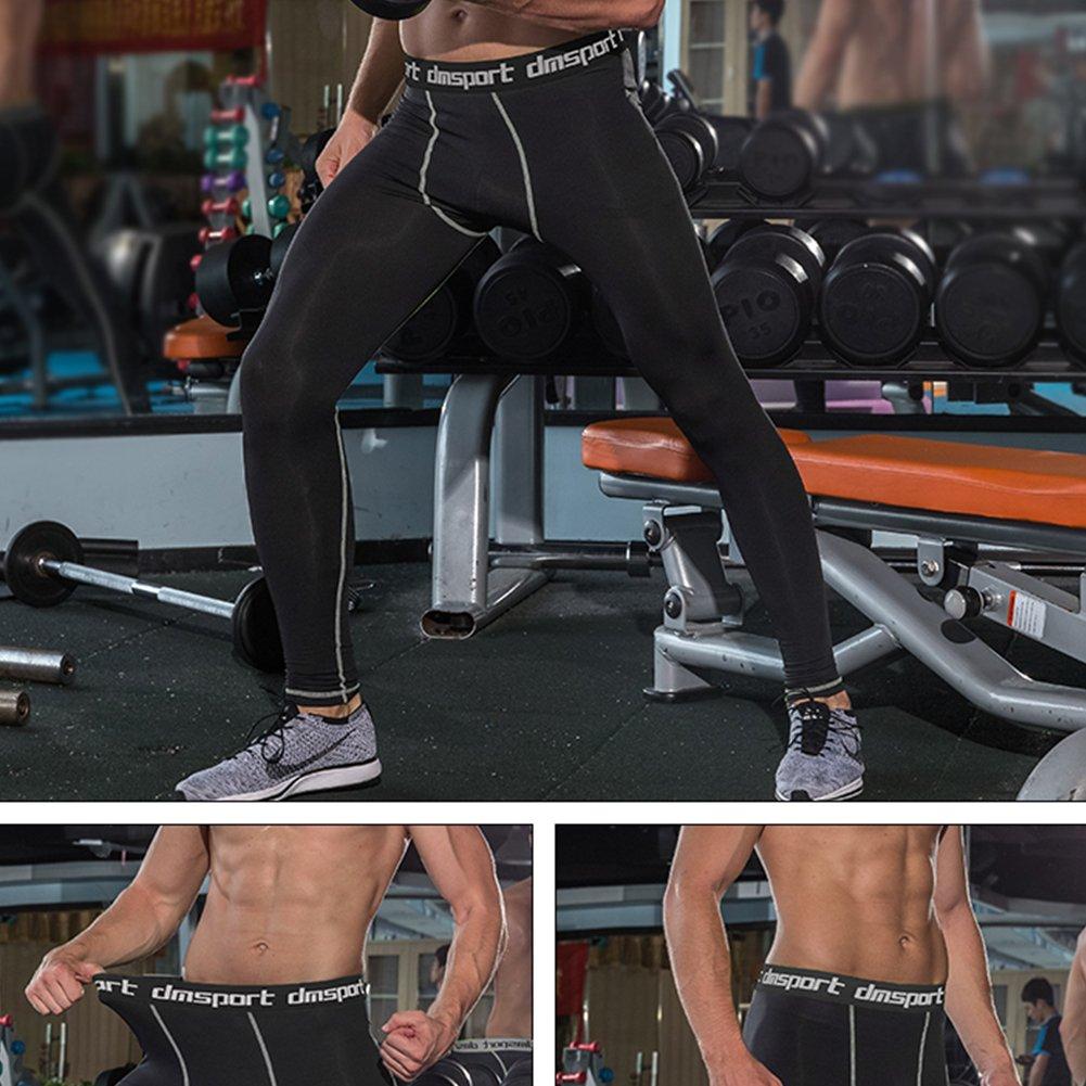 FITIBEST T Shirt Homme Compression Séchage Rapide à Manches Longues et Pantalon de Sport