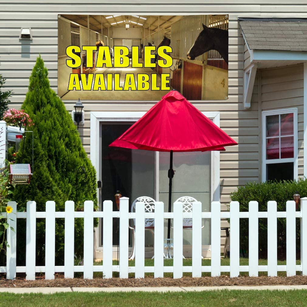 6 Grommets Vinyl Banner Sign Stables Available Lifestyle Outdoor Marketing Advertising Golden Multiple Sizes Available Set of 2 32inx80in