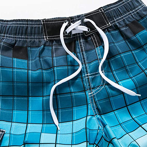 24525c9f779 Amazon.com: Jiayit Men Beach Shorts Plus Size Classic Fit Men's Casual  Plaid Bathing Suits Drawstring Swimming Pants Dating Shorts: Sports &  Outdoors