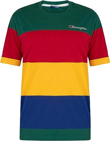 Champion de los Hombres Camiseta con Logo en el Pecho, Multicolor