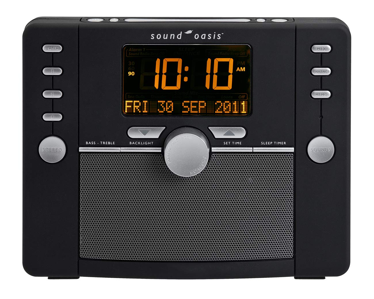 Sound Oasis S-5000 Deluxe Sleep Sound Therapy System, Black by Sound Oasis