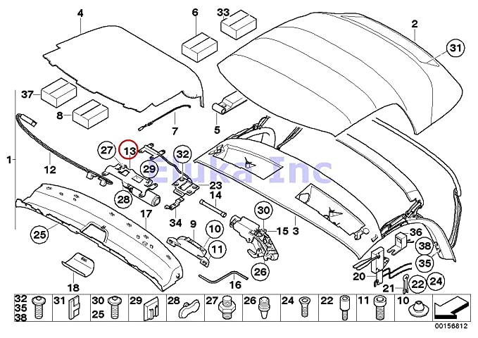Amazon Com Bmw Genuine Convertible Top Motor For Convertible Top