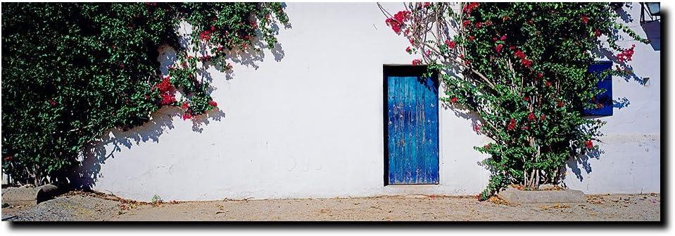 Marca de obras de arte La Puerta Azul; España por Preston lienzo, 40 x 119,38 cm: Amazon.es: Hogar