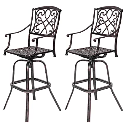 Terrific Amazon Com Vintage Swivel Bar Stool 30 Inch Patio Furniture Ibusinesslaw Wood Chair Design Ideas Ibusinesslaworg