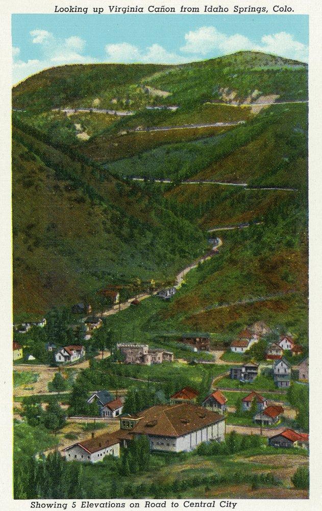 アイダホスプリング、コロラド – Looking Up Virginia Canyon showing Road to Central City 36 x 54 Giclee Print LANT-24071-36x54 B01MG2VW6C  36 x 54 Giclee Print