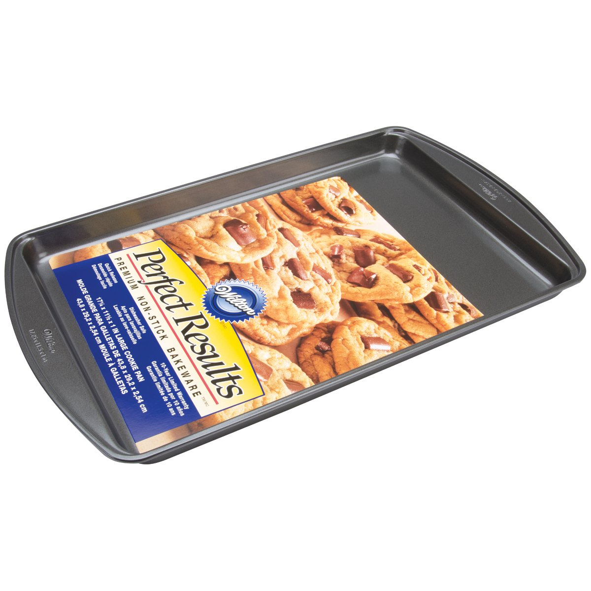 Wilton Perfect Results Premium Non-Stick Bakeware Large Cookie Sheet, 17.25 x 11.5-Inch