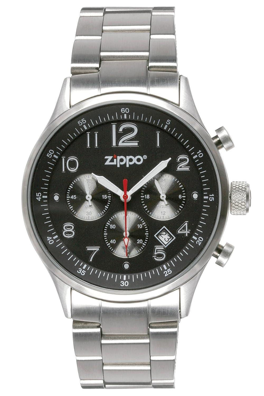 Zippo Herren-Armbanduhr Chronograph Edelstahl silber 45001