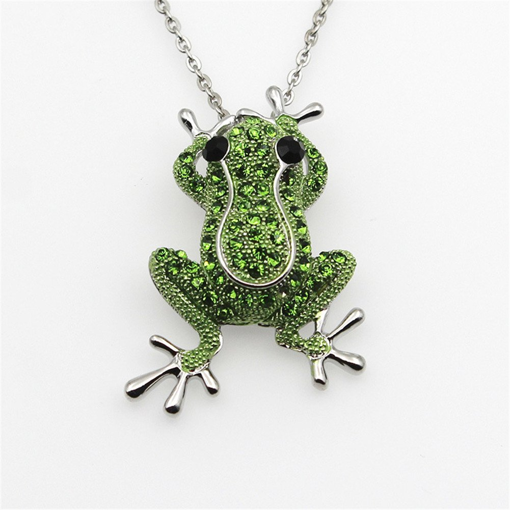 Crystal Rhinestone Synthetic Emerald Golden Frog Fashion Jewelry Pin Brooch for Christmas Gift by LOVFASHION (Image #4)