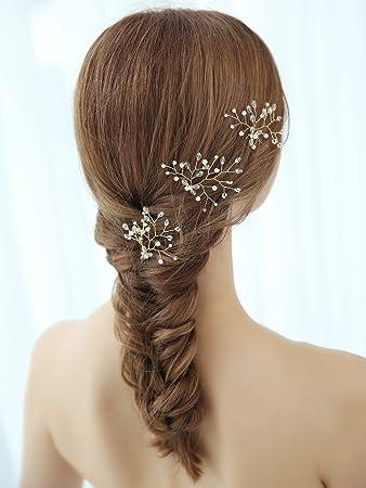 Amazon Aegenacess Wedding Hair Bobby Pins Crystal Decorative