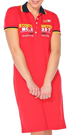 M.Conte Vestido Polo-Dress Manga Cortos para Mujer Mecia Rojo S ...