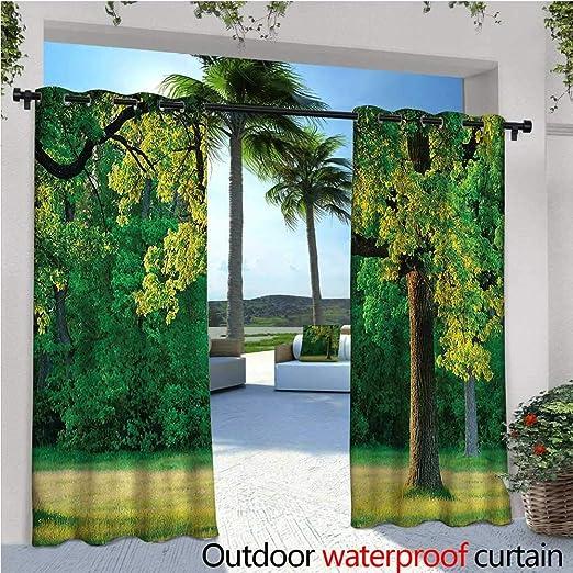 Cortinas de Patio de árbol de la Vida, Coloridas, con Capucha, para Exteriores, para Patio, Patio, Cortinas: Amazon.es: Jardín