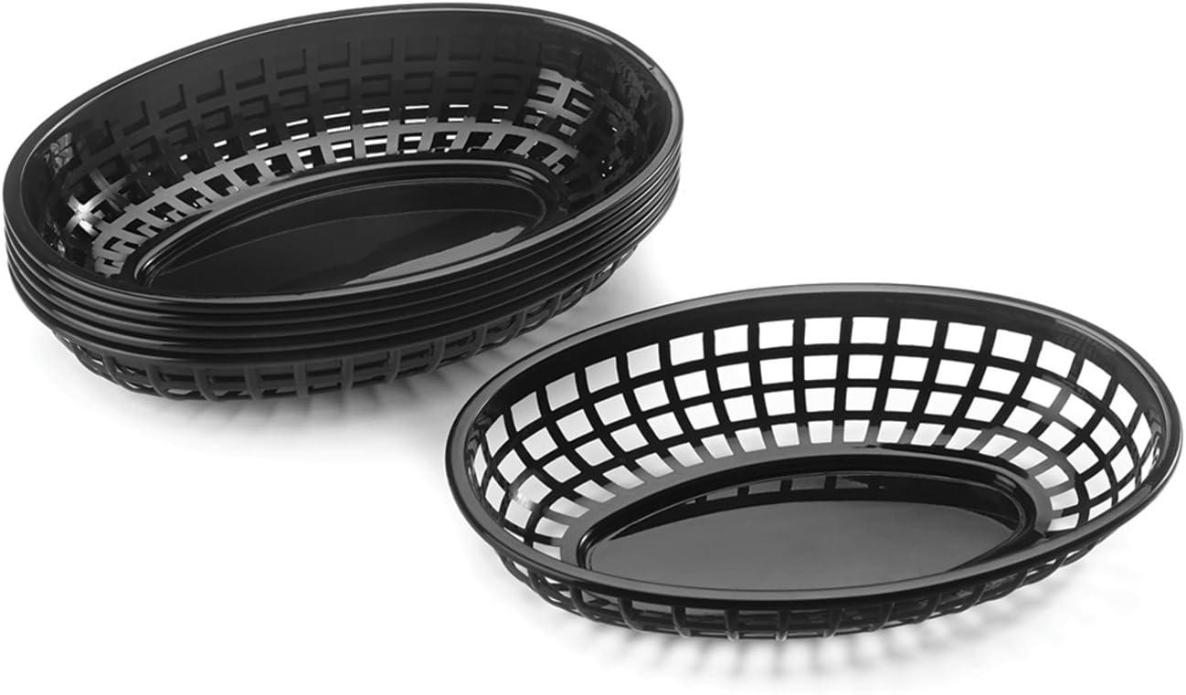 Outset Pub Food Baskets, Set of 6, Black