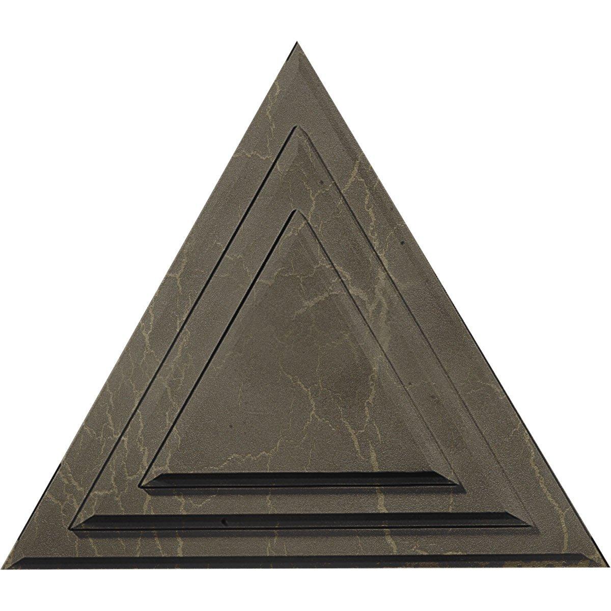 Ekena Millwork CM19TGMMC Triangle Ceiling Medallion, Mississippi Mud Crackle