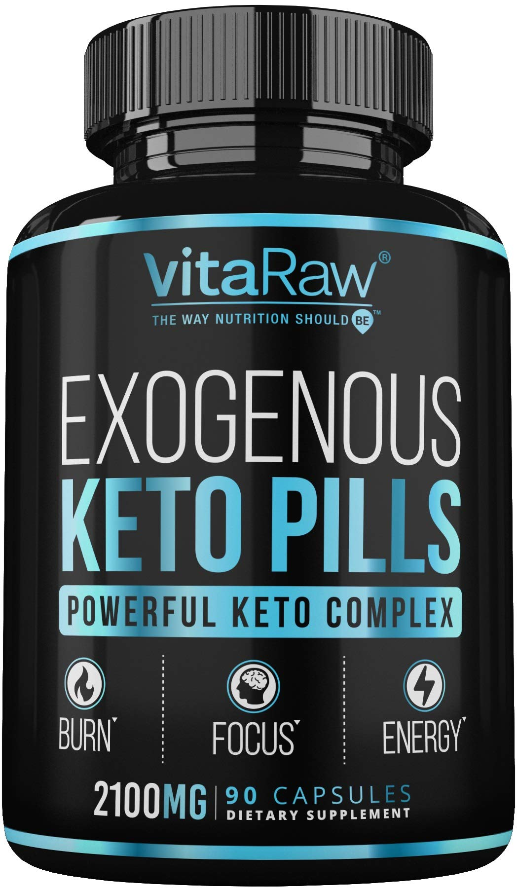 VitaRaw Exogenous Keto Pills – (3X Powerful Dose | 2100mg Keto BHB) Best Keto Burn Diet Pills – Advanced Ketones BHB…