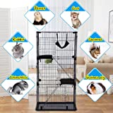 "Large 3-Tier Cat Cage Pet Playpen Cat Crate Kennels 67"" Height Kitten House Furniture Wire Metal Pet Enclosure w/3 Front Doors 2 Ladders 2 Platforms Bed Hammock Cat Condo for Ferret Rat Cat chinchilla"