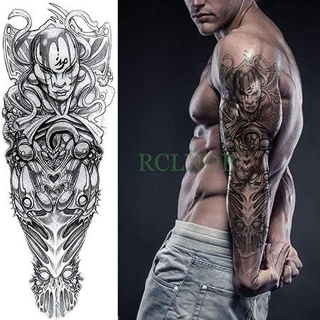 ljmljm 3 Unids Etiqueta Engomada del Tatuaje Impermeable Mecánica ...