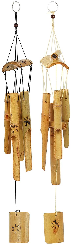 2 Campanas de Viento de bambú