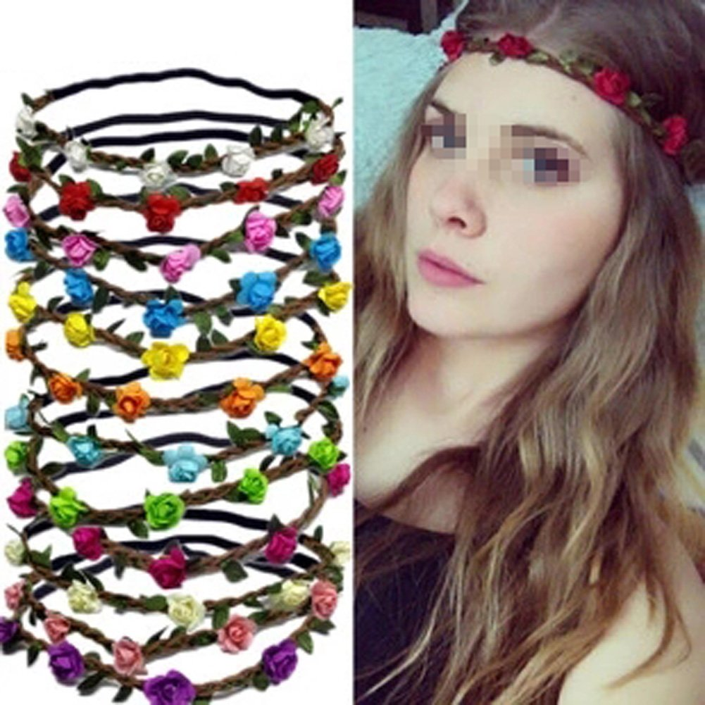 85off set of 6 assorted colours hippie flower crown headband halo 85off set of 6 assorted colours hippie flower crown headband halo women girls boho izmirmasajfo