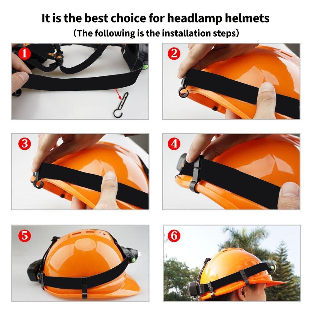 Helmet Clips for Headlamp Easily Mount Headlamp Hook on Helmet Hardhat 8 pack Safety Cap Strap