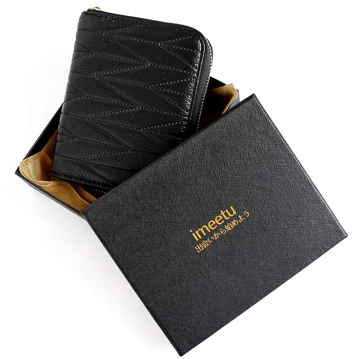 imeetu Women/men RFID Blocking Leather Credit Card Holder case Accordion Wallet 24 Slots Purses with Zipper Pocket(Wine Red) by imeetu (Image #8)
