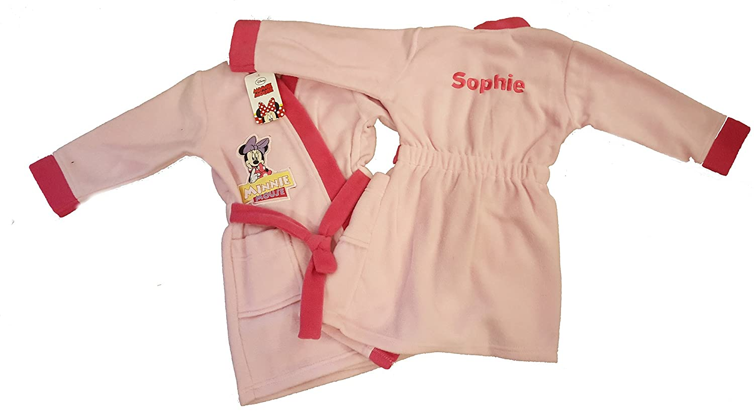 Hoolaroo Girls Personalised Embroidered Minnie Mouse Dressing Gown ...