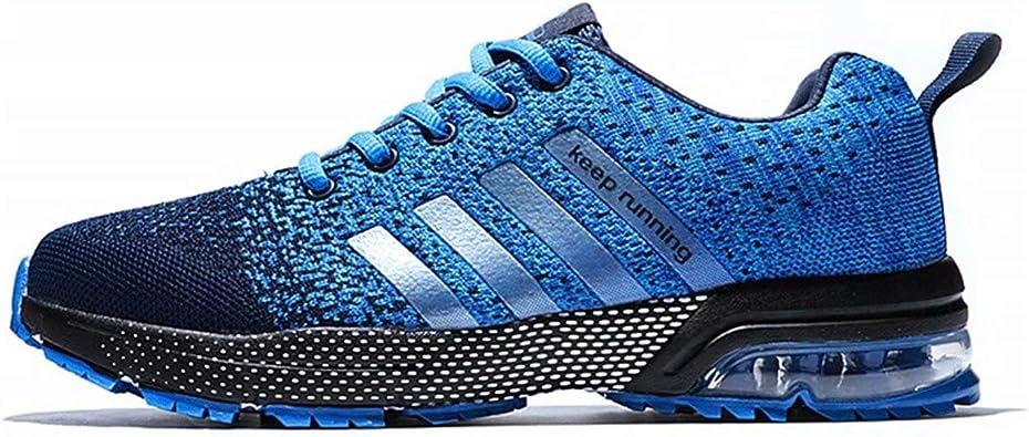 Hombre Zapatillas Deporte Zapatos para Correr Athletic Cordones Air Cushion Running Sports Sneakers Blue EU40: Amazon.es: Zapatos y complementos