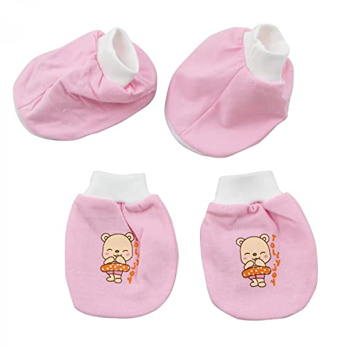 95ebfd4a6e86 Tollyjoy Baby Mitten   Bootee Set Cream  Amazon.in  Shoes   Handbags