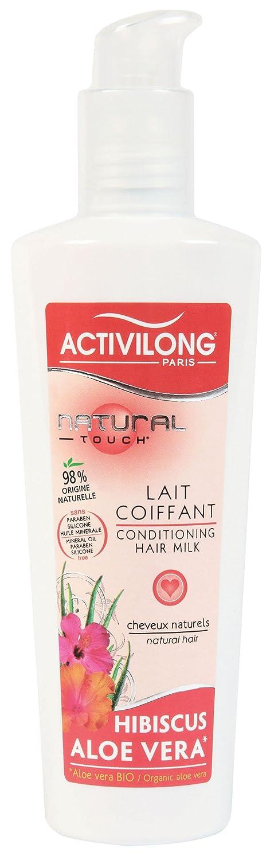 Activilong Natural Touch Lait Coiffant Hibiscus et Aloe Vera Bio 240 ml ACT053