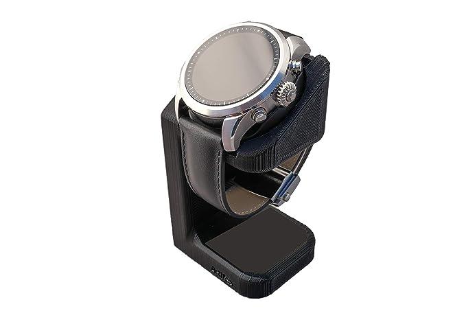 Artifex Design Stand Configured for MontBlanc Summit 2 Smartwatch, Charging Stand, Artifex Charging Dock Stand for MontBlanc Summit 2 only (Black)