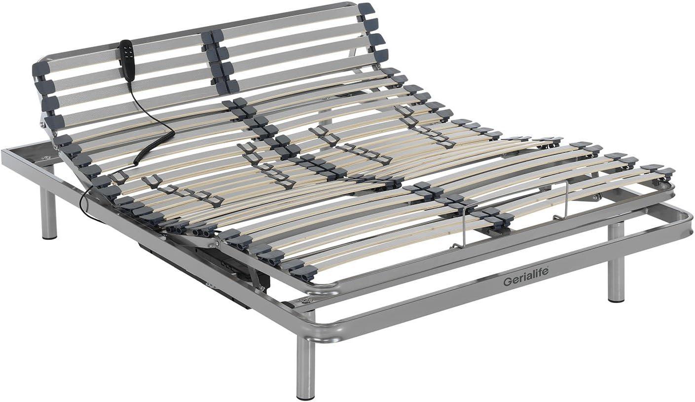 Gerialife® Cama Articulada Eléctrica Reforzada (135x190 ...