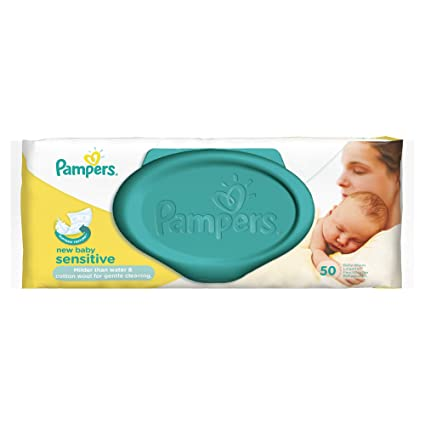 Pampers New Baby Sensitive 1 x 50 pcs 50pieza(s) toallita húmeda para bebé