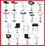 New PU PVC Leather Bar Stool Kitchen Chair Gas Lift Black White Red in 4 X 2X 1X