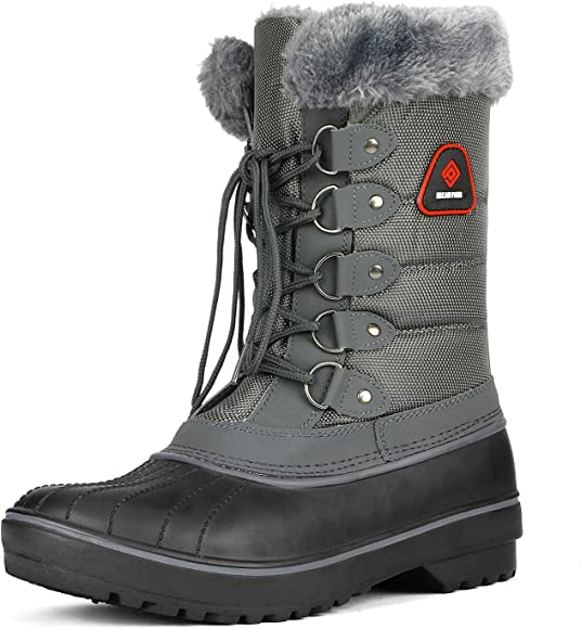 DREAM PAIRS Womens Faux Fur Lined Mid Calf Winter Snow Boots