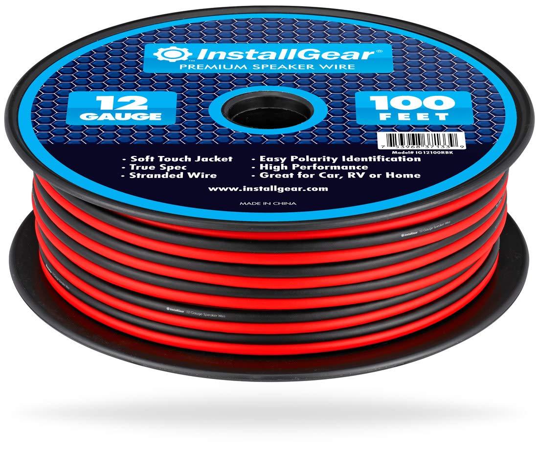 InstallGear 12 Gauge Speaker Wire (100-feet - Red/Black) by InstallGear