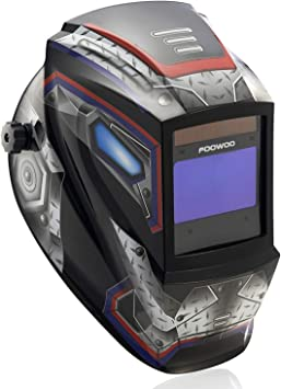 Pro Welding Helmet with Highest Optical Class Larger Viewing Area 1//1//1//1 3.9