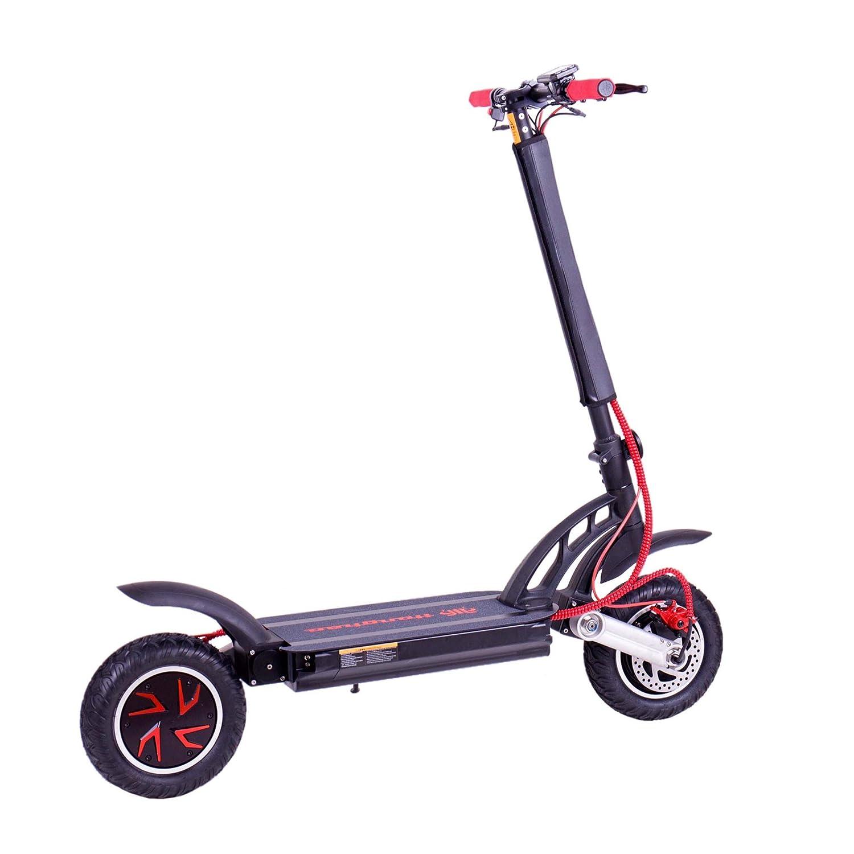 Patinete eléctrico para adultos Ecorider® Plegable. Con sillín extraíble [todoterreno] – 4 modelos de 28 km/h a 60 km/h – Autonomía de 25 km a 50 km, Noir, ...