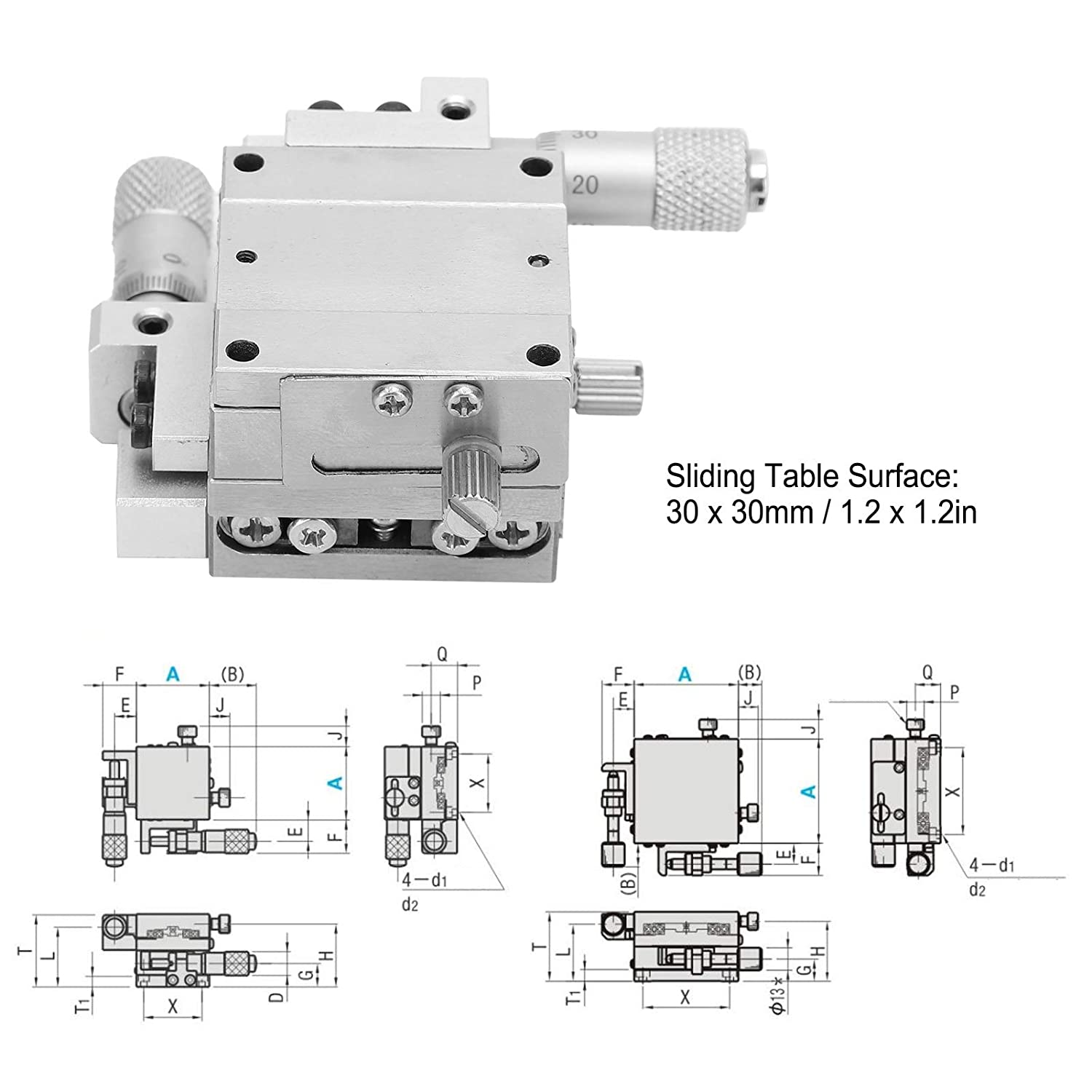 XY Axis Linear 30x30mm,Provide Linear Motion for Equipment