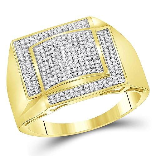 2285593792ec Anillo de oro amarillo de 10 quilates para hombre