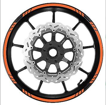 Naranja rueda Borde Cinta velocidad Graduado rayas ajuste todas las marcas de motocicletas, coches, camiones: Amazon.es: Coche y moto