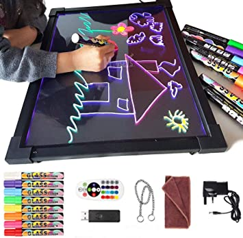 Sensory LED Message Writing Drawing Board Light Up Kids Special Needs Toy Autism